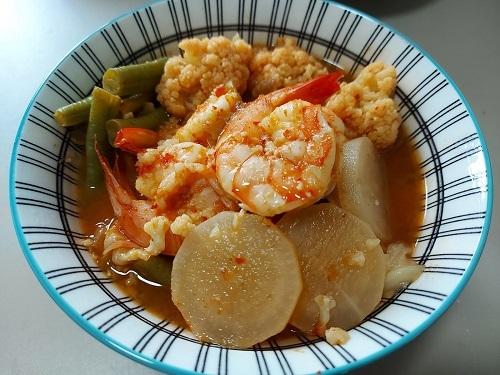 Mixed veggie sour soup