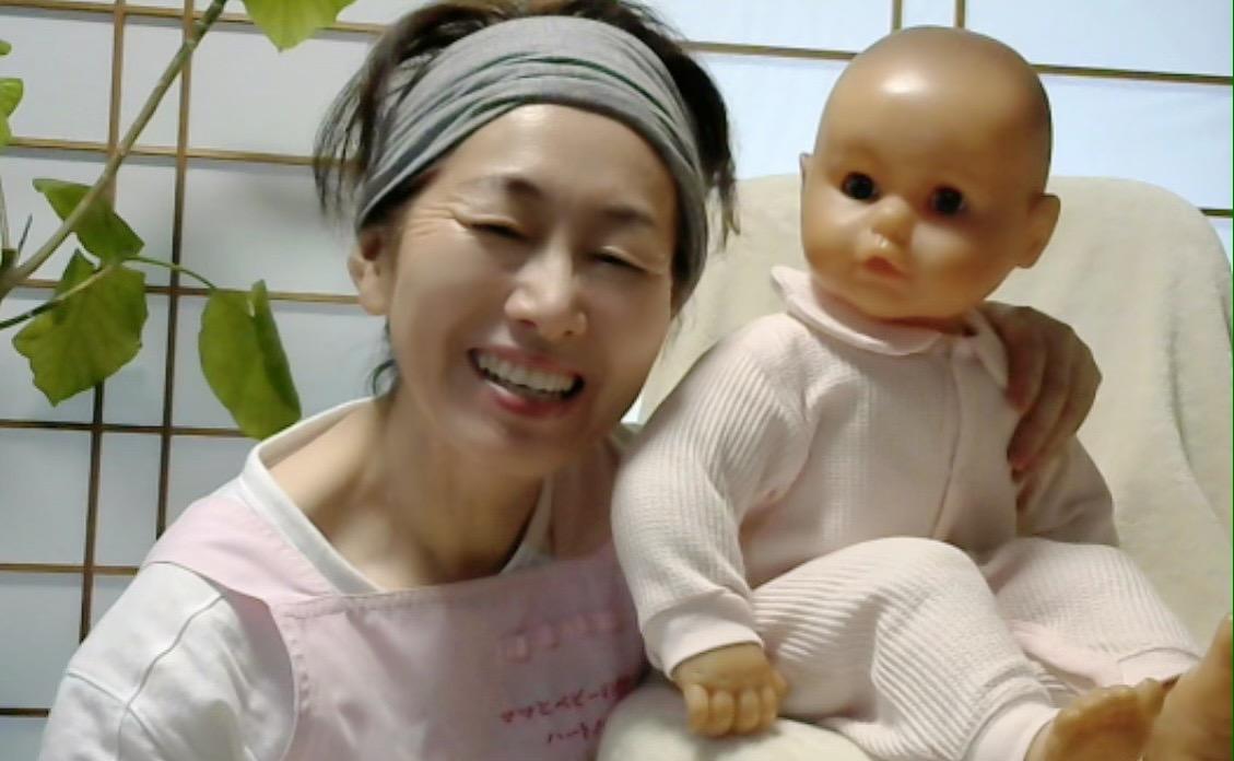 宮井文美と赤ちゃん人形