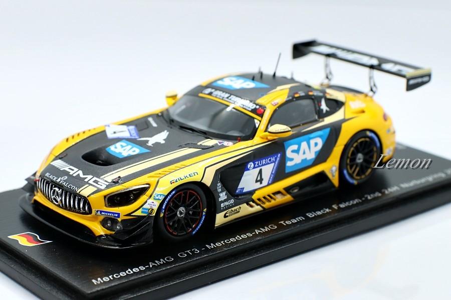 【スパーク】 1/43 Mercedes AMG GT3 #4 - Mercedes AMG Team Black Falcon - 2nd 24H Nurburgring 2018