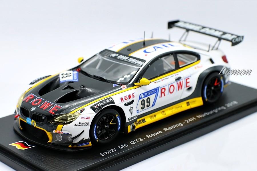 【スパーク】 1/43 BMW M6 GT3 #99 - Rowe Racing - 24H Nurburgring  2018