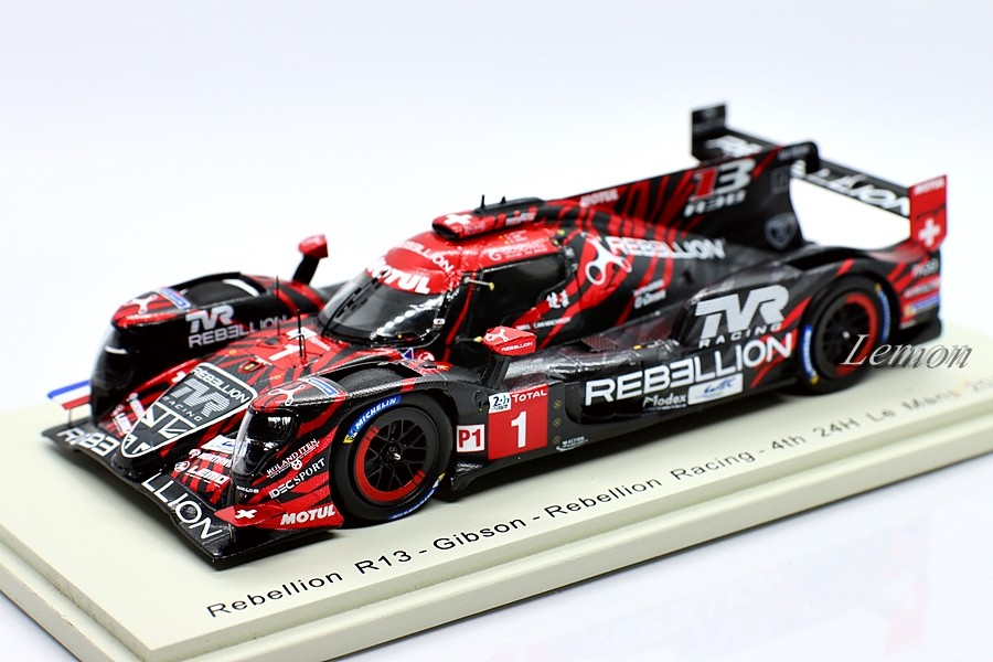 【スパーク】 1/43 Rebellion R13 #1 - Gibson - Rebellion Racing - 4th 24H Le Mans 2018