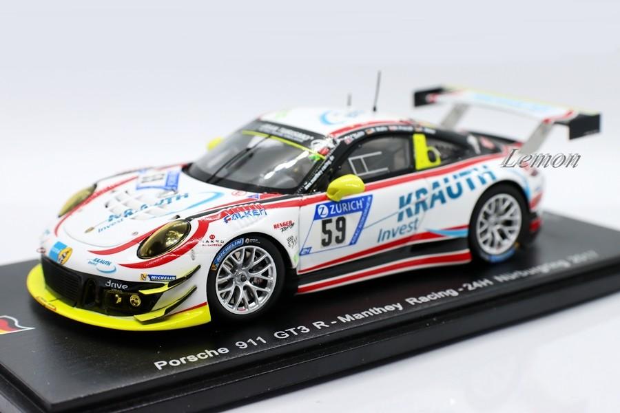 【スパーク】 1/43 Porsche 911 GT3 R #59 - Manthey Racing - 24H Nurburgring 2017