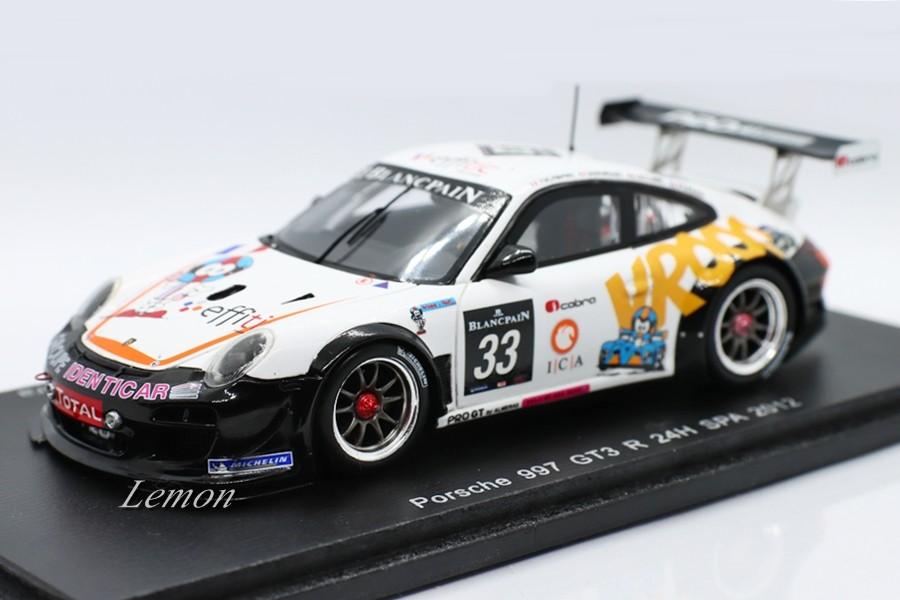 【スパーク】 1/43 Porsche 997 GT3 R #33 24H SPA 2012