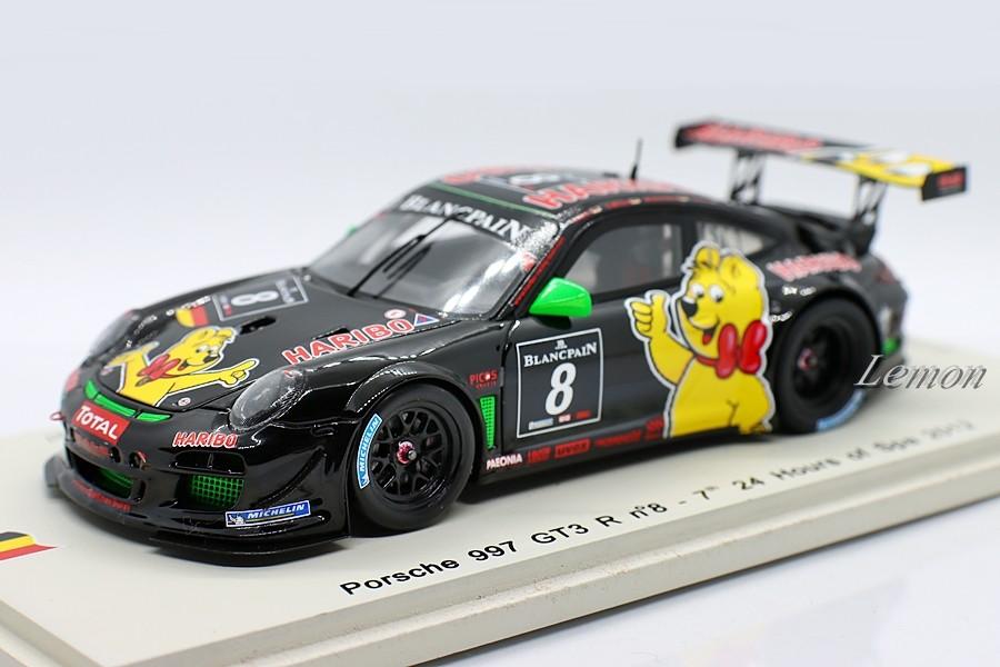 【スパーク】 1/43 Porsche 997 GT3 R #8 - 7th 24 Hours of Spa 2012