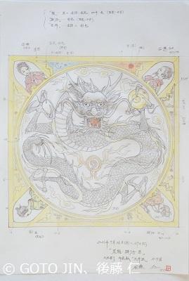 大垣祭り、天井画制作・小下図
