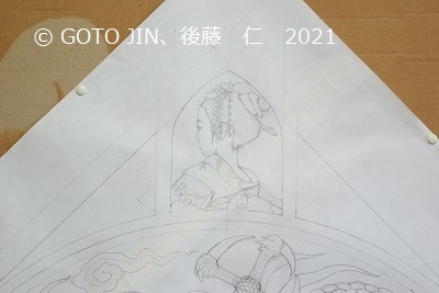 大垣祭り、天井画制作・大下図