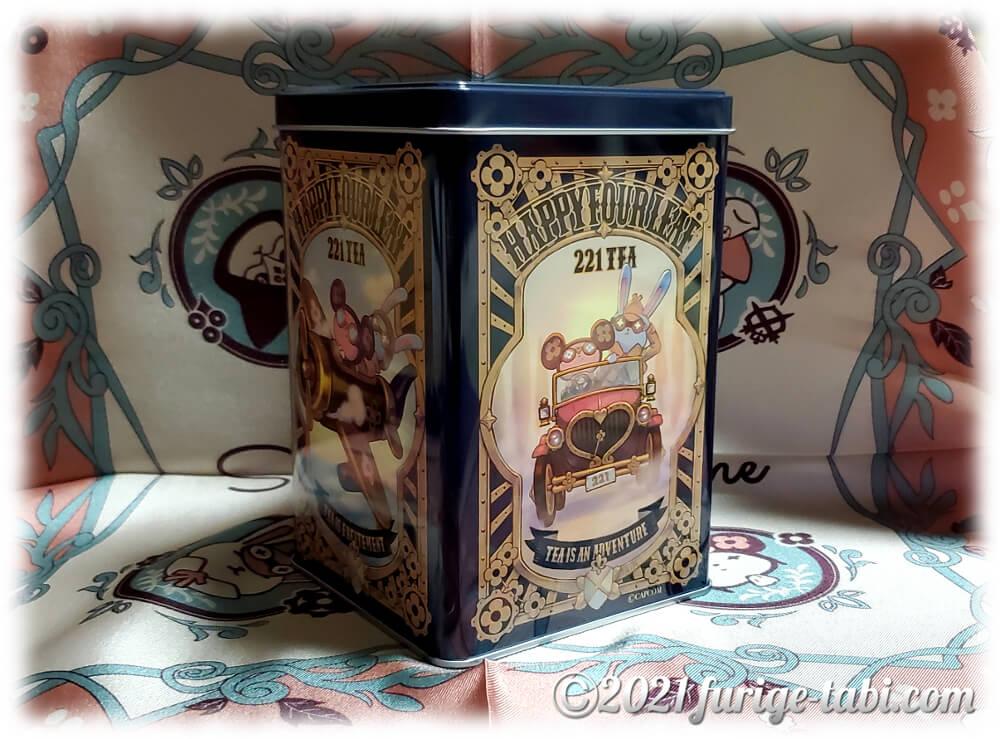 大逆転裁判1&2 特典グッズ 221TEA 紅茶缶 うさろっくとくまりす