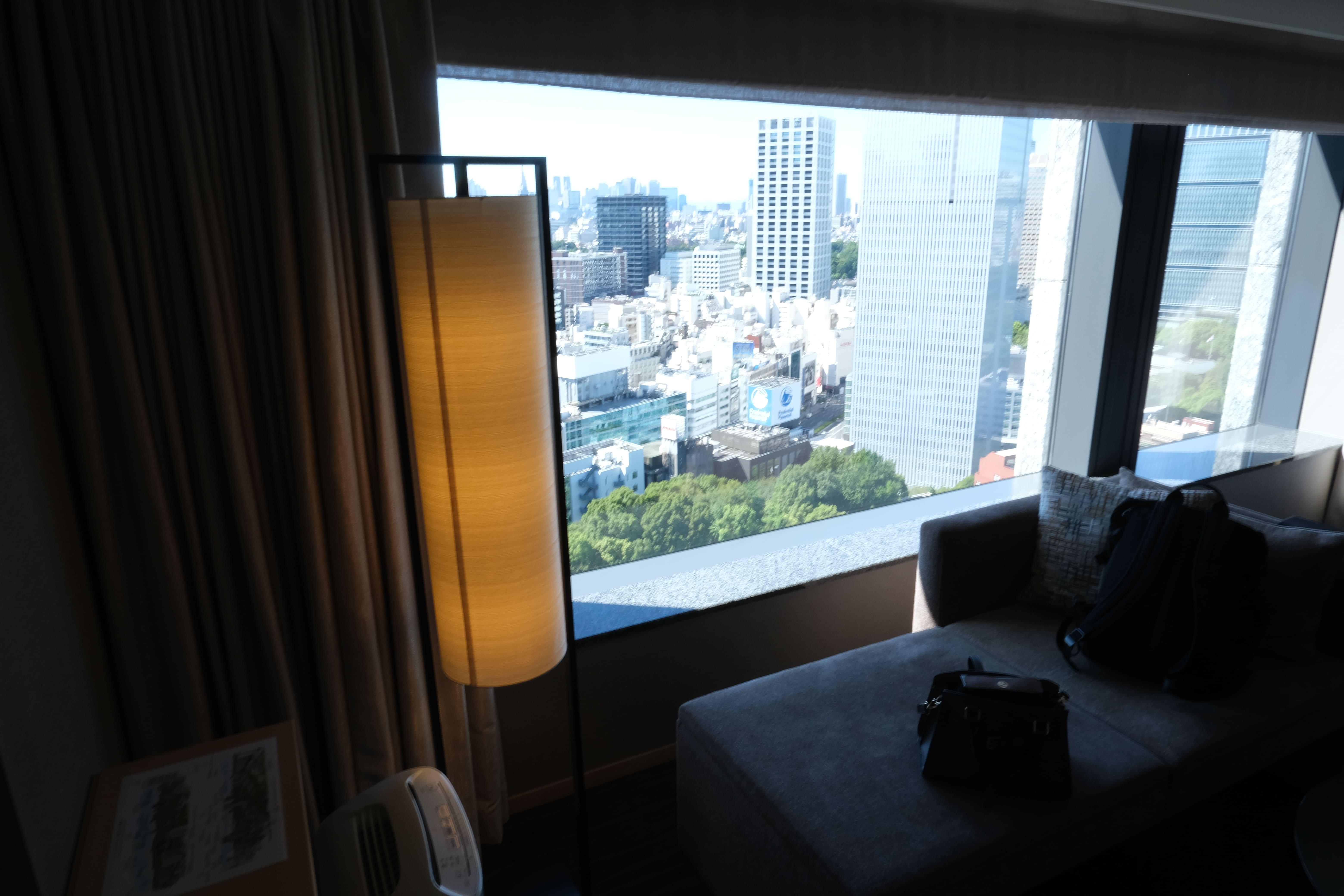 ザ・キャピトルホテル東急の部屋からの景色
