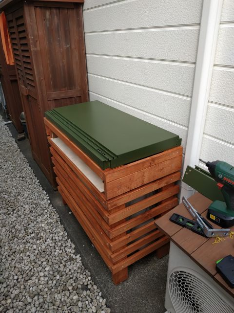 DIY 室外機カバー 収納