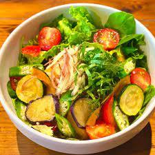 種類の夏野菜のさっぱり和風サラスパ