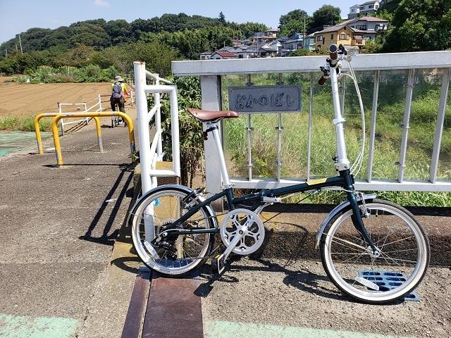 目久尻川の岡野橋とダホンボードウォークD7