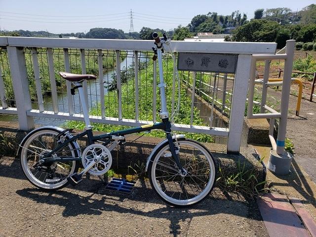 目久尻川の中野橋とダホンボードウォークD7