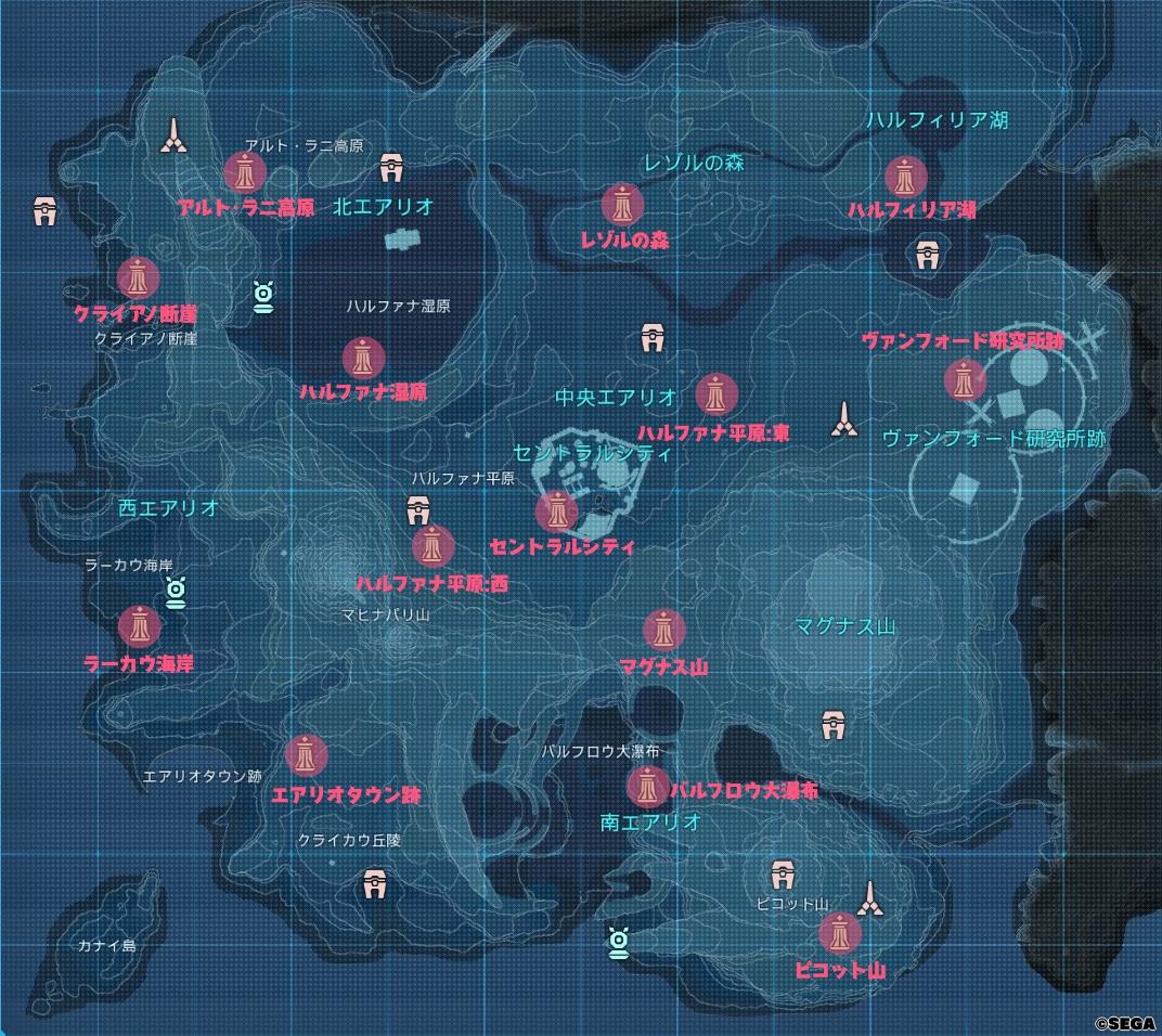 リューカーデバイスの場所を示す地図