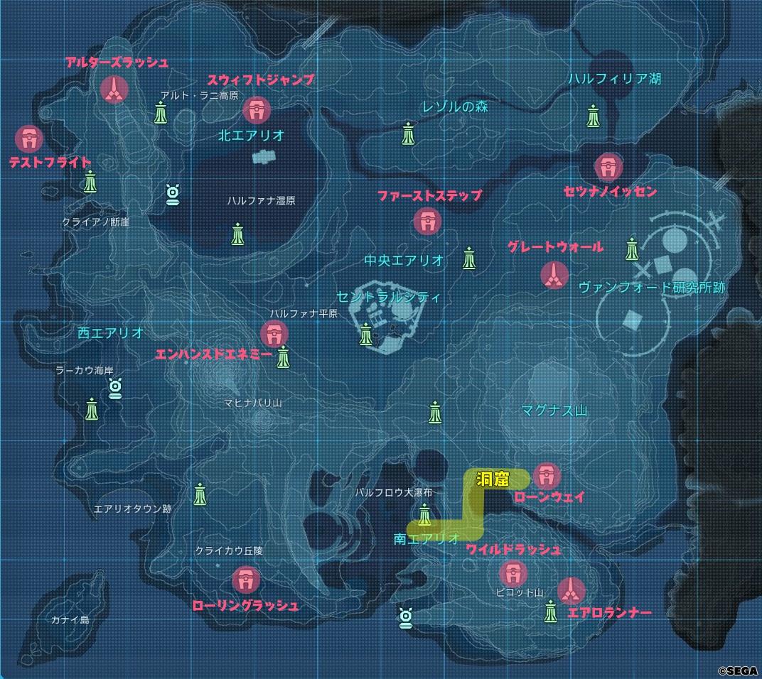 コクーン・タワーの場所を示す地図
