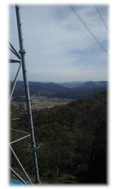 6下山道鉄塔からの風景