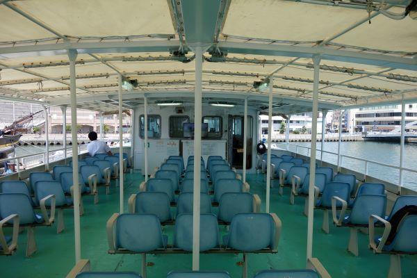 軍艦島クルーズ船2階.JPG