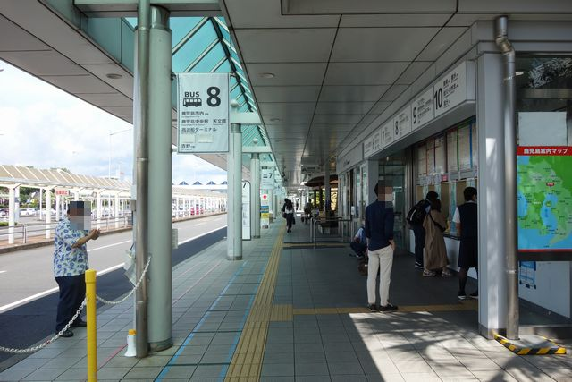 鹿児島空港バス停前.jpg
