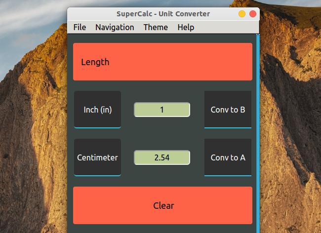 SuperCalc 電卓 単位変換