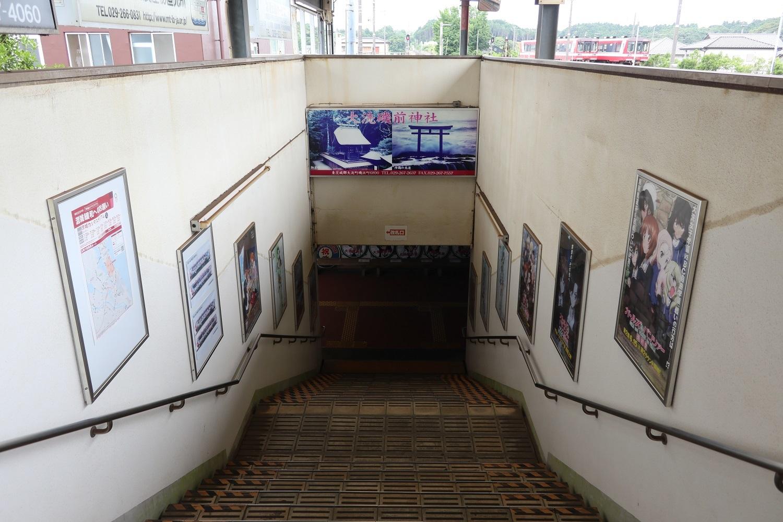 階段にはガルパンポスターが