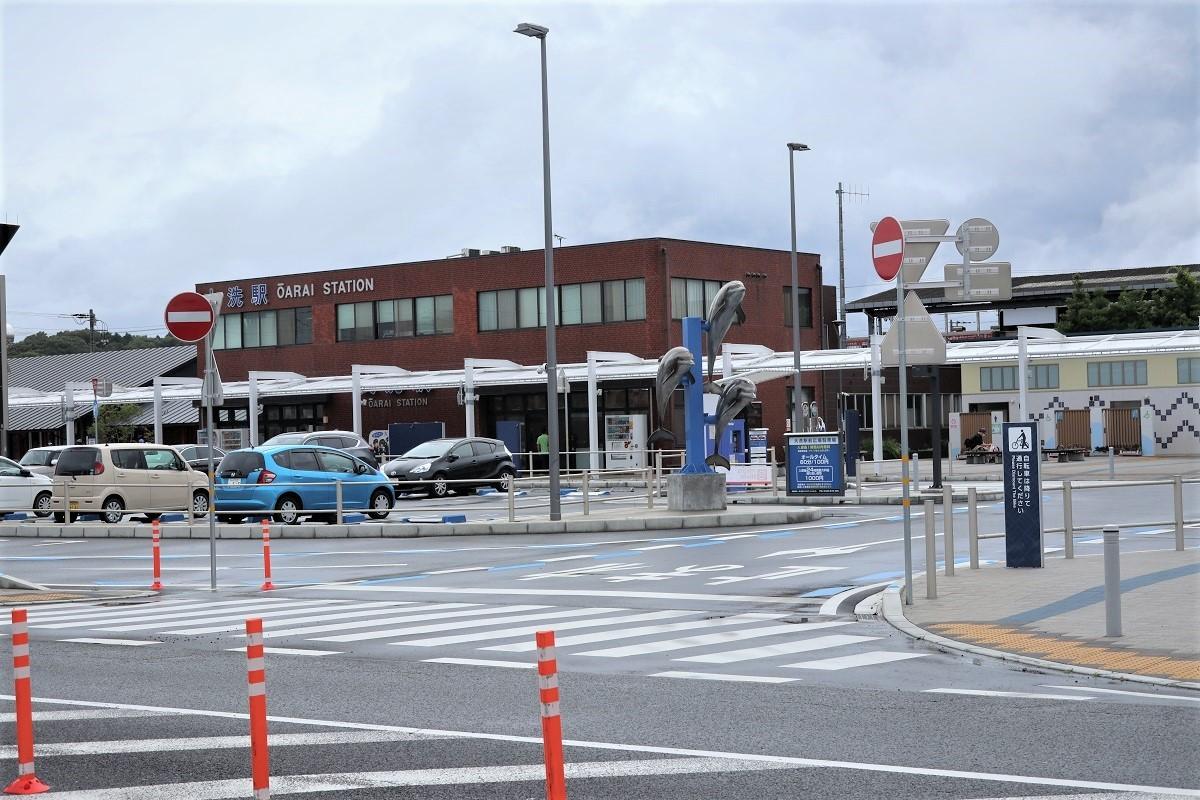 大洗駅バス停先から (2)